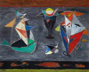 Still Life with Toy Boat and Kite