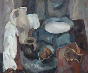 Still Life in Grey and Brown