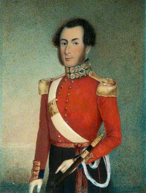 An Officer in the Royals in Uniform of 1840–1855