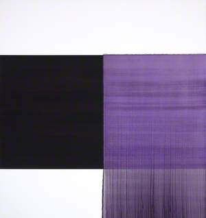 Exposed Painting: Cobalt Black, Violet, Charcoal Black