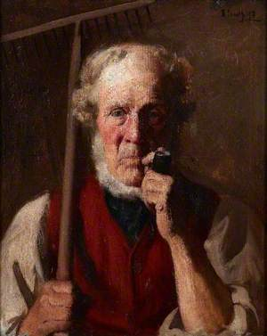 Gardener with a Pipe