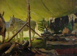 Corner of the Horse Tent (Sanger's Circus)