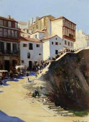 Street Scene in Vigo, Spain
