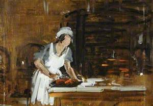 Study of a Maid in a Kitchen