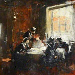 Study of Maids at a Table