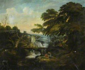 Landscape with Figures by a Waterfall