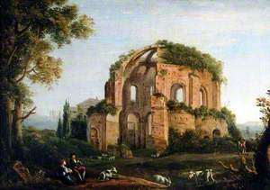 Ruined Temple in an Italianate Landscape
