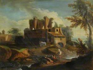 Southern Landscape with Ruins and Figures