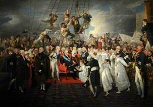 The Arrival of King Louis XVIII of France in Calais in 1814