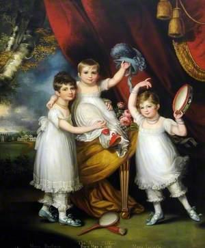 Miss Mary Barbara (1801–1876), Miss Mary Isabella (1804–1828), and Master Thomas Aston Clifford (1806–1870)