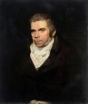 Portrait of an Unidentified Man Wearing a Dark Coat with a White Bow Tie and a Scarf