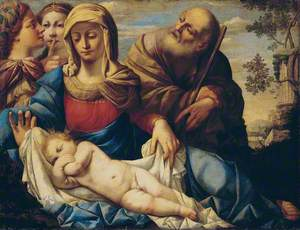 The Holy Family with Two Female Figures