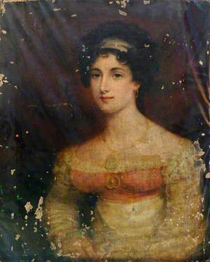 Portrait of a Lady in a Pink Dress