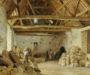 Weighing the Sacks (The Tithe Barn)
