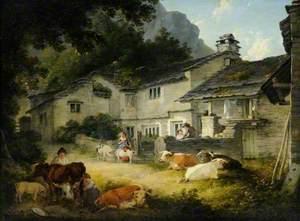 Cottages at Clappersgate near Ambleside, Cumbria