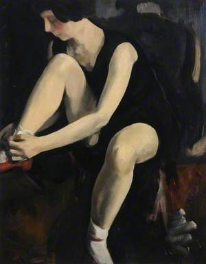 Study of a Ballet Girl Preparing for a Rehearsal