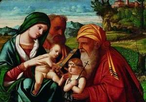 The Holy Family with Saint Simeon and Saint John the Baptist