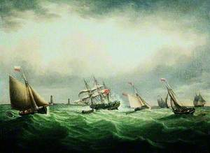 The Wreck of the Ship 'Thomas' off the Stony Binks, 8 June 1821