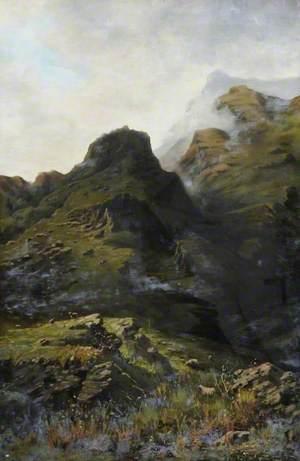 Mountain Scene and Sheep*