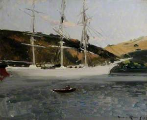 The 'Crecy' at Fowey, Cornwall