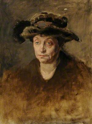 Portrait of a Woman in a Feathered Hat