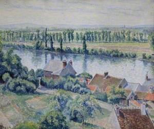 Un coin du village, La Frette, France