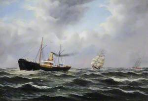 Pilot Steamer 'Rescue', Sailing Barque and Cutter 'Elbe 1'