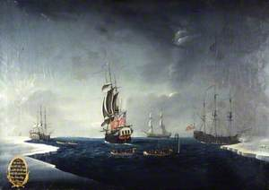 The Whaling Fleet of Sir Samuel Standidge Depicting the Ships 'Mary', 'Samuel', 'Lady Jane' and 'Grenland'
