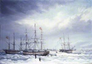 The 'Jane', 'Viewforth' and 'Middleton' Fast in Ice