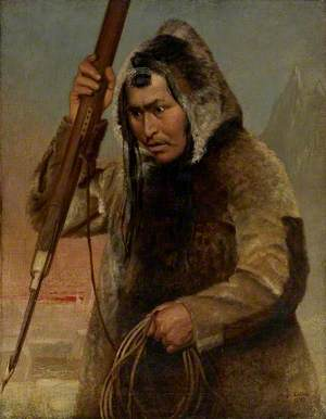 Eskimo Throwing a Harpoon