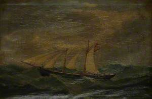 Schooner 'Arthur' Dismasted and Sailing on the Atlantic
