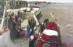 The Departure of HM Queen Elizabeth II and HRH the Duke of Edinburgh from the Corporation Pier, Kingston upon Hull, for the State Visit to Denmark