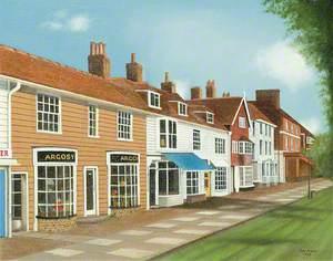 View of Shops in Tenterden, Kent