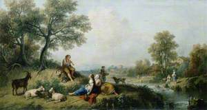 Pastoral Scene with Goatherds
