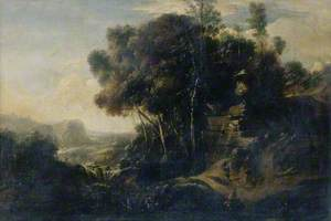 Woody Landscape with Classical Urn