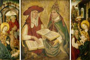Triptych with the Nativity and Saints