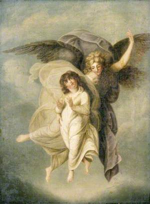 An Angel Carrying the Spirit of a Child to Paradise