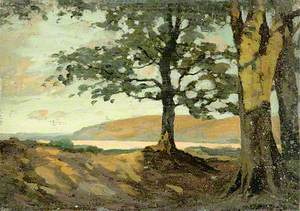 Country Scene with Trees