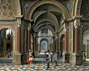 Interior of an Imaginary Church