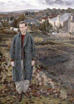 Vincent Lloyd on Blythe Hill, South London, with Kent Hills beyond
