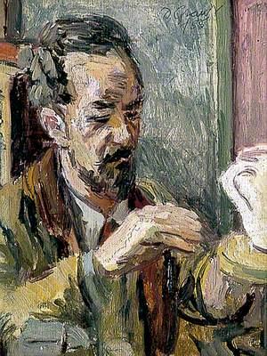 Edward Le Bas (1904–1966), Decorating a Pot