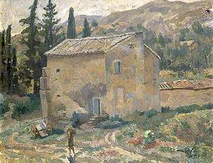 French Landscape with a House