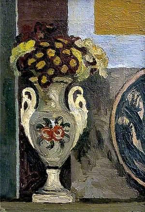Still Life, Polyanthus in Vase