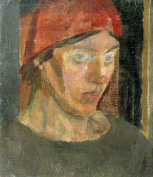 Vanessa Bell (1879–1961), in a Red Headscarf