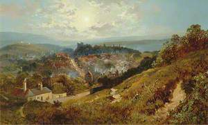 Lewes, East Sussex, from Chapel Hill