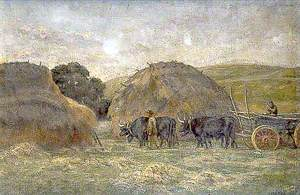 Sussex Oxen and Hayricks