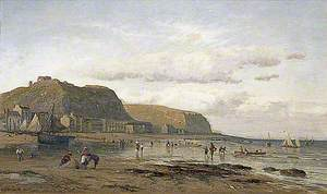 Hastings Beach, East Sussex, Looking East to Pelham Crescent