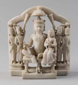 Rama and Sita, with Hanuman and Attendants