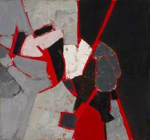 Composition: Red, Black and Grey