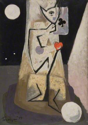 Standing Figure with Ace of Clubs